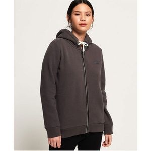 Grey Superdry zip up hoodie